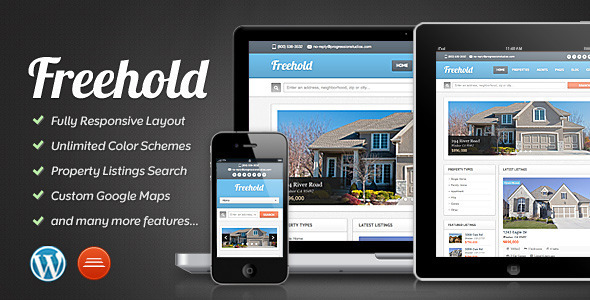 freehold - premium real estate wordpress template
