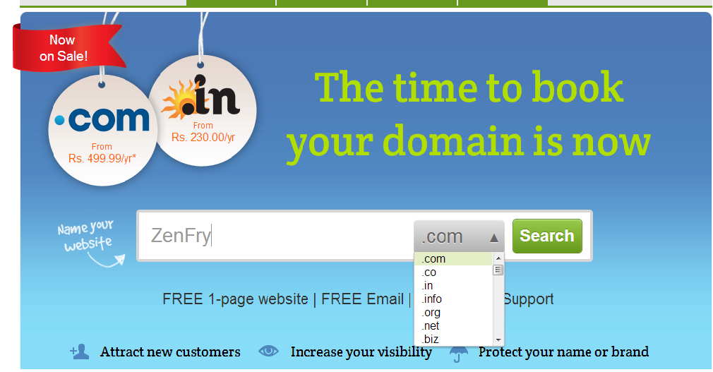 register a domain name for website