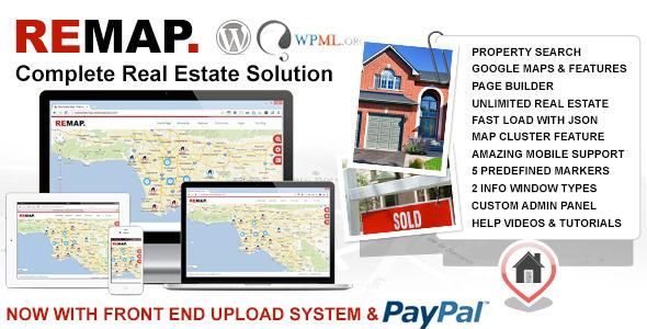 Google map based, responsive, premium real estate wordpress template