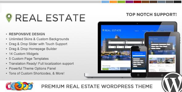 Full width image based real estate theme