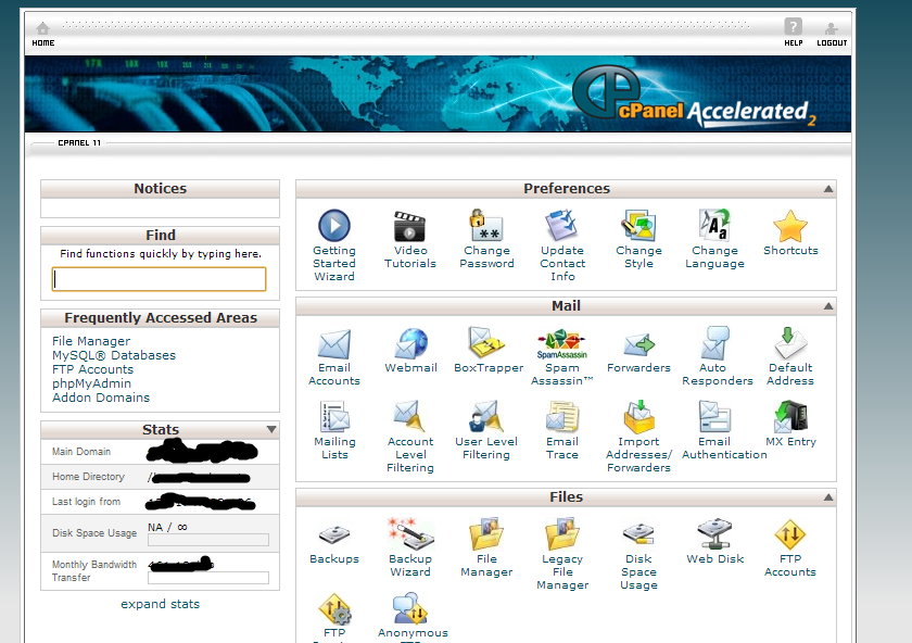 Adding a new domain in web hosting account