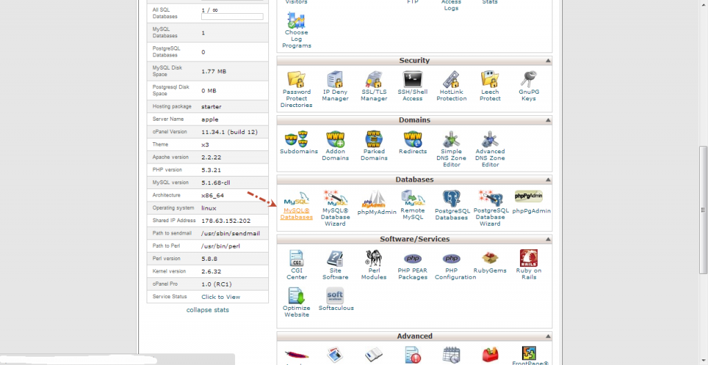 How to add a new database in hosting account-Hostgator