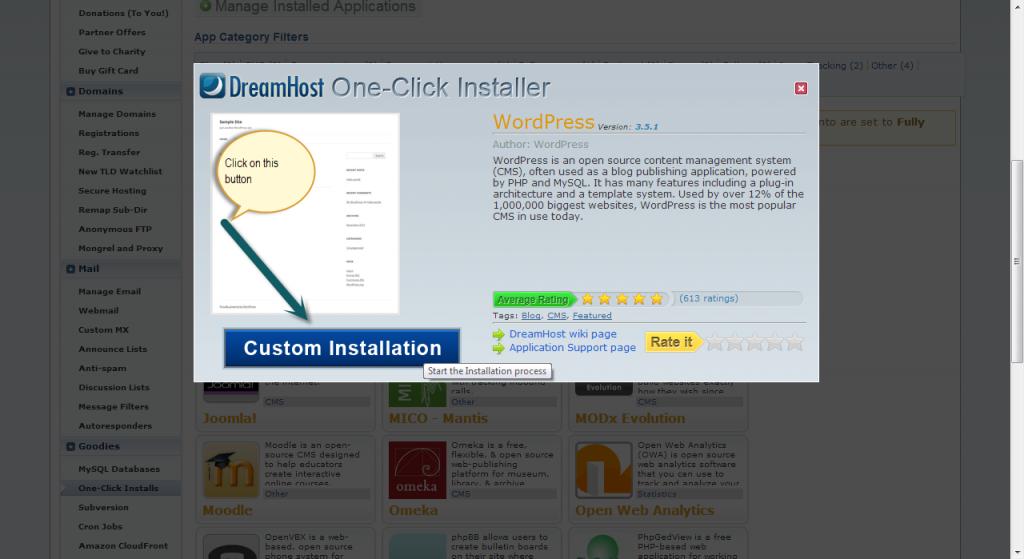 Tutorial to Install WordPress in DreamHost