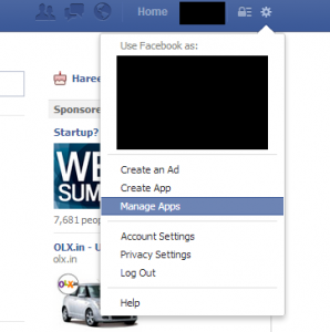 Create facebook application