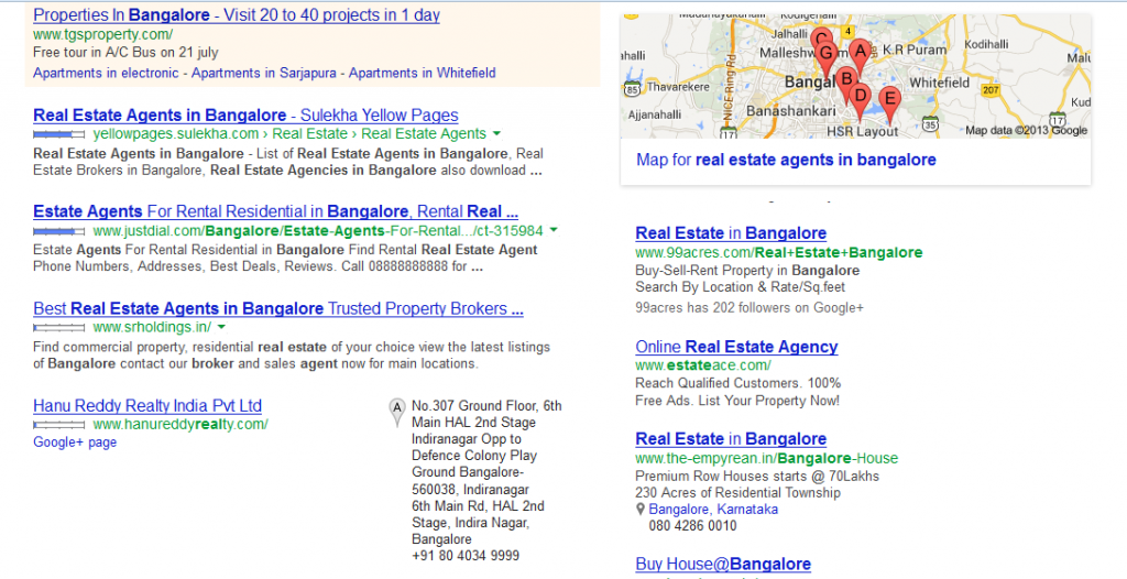 Listing in business directory