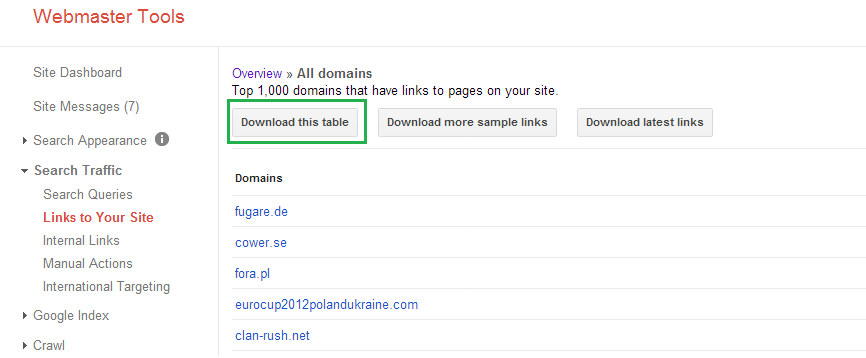 downloading domains step 1
