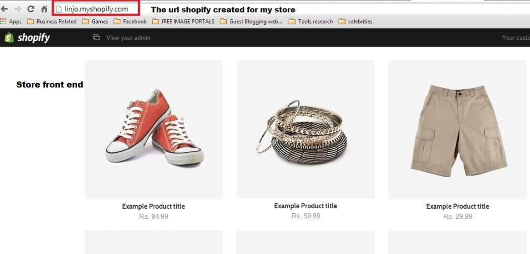 shopify -2 store front end