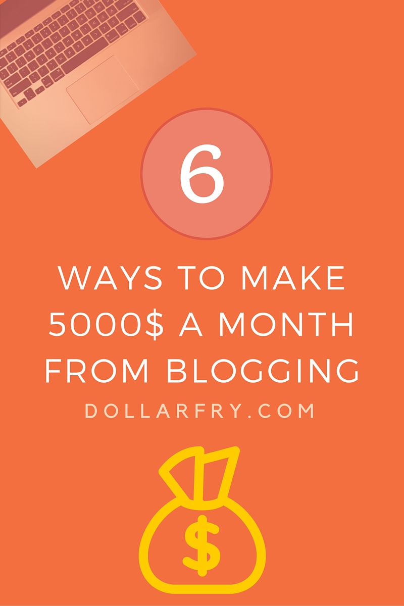 Six best ways to make 5000 $ per month from your blog
