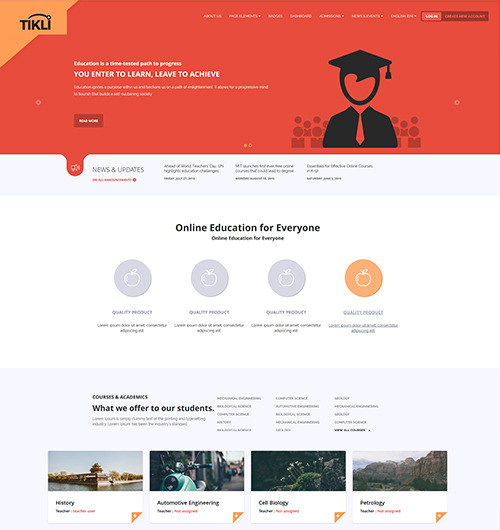 Bootstrap Moodle Theme
