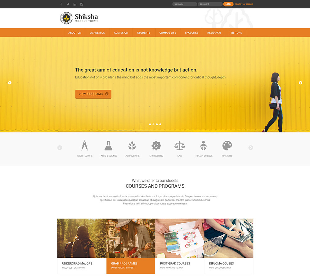 Bootstrap Theme Moodle