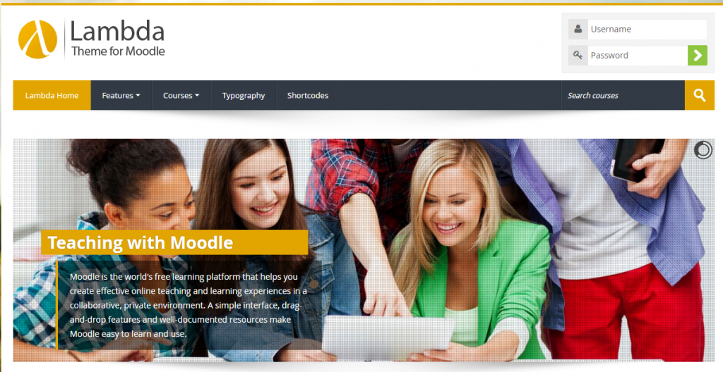 Responsive Bootstrap Moodle Theme