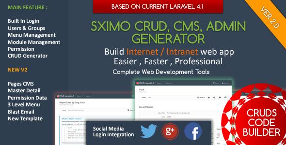 laravel crud builder