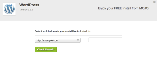 wordpress select domain